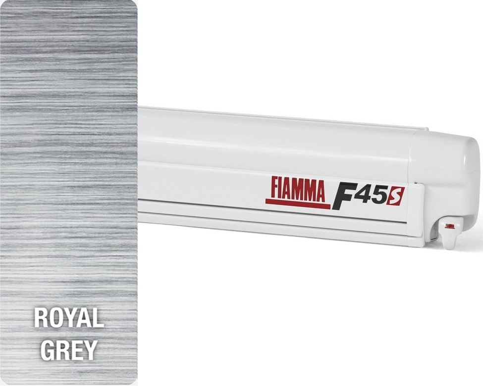 Fiamma F45S Wall Mounted 4.5M Awning, Royal Grey
